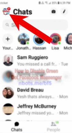 What does the green dot mean on facebook messenger