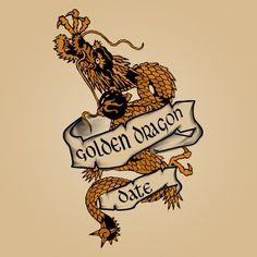 Golden Dragon Sailor Tattoo