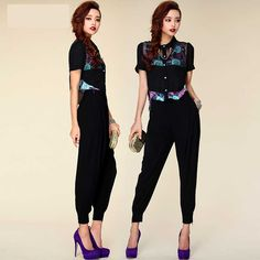 New Fashion Casual Women Pants Solid Color Pocket High Waist Comfy Chiffon Harem Pants Long Pants Small Feet Trousers