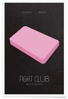 Fight Club en Affiche premium par Calm The Ham | JUNIQE