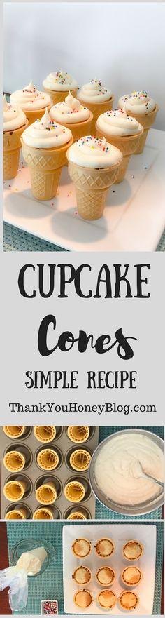 Cupcake Cones, Recipe, Dessert, Simple Recipe, Cupcake Cones, Treat, Summer, Cupcakes, Ice Cream Cones, ThankYouHoneyBlog.com, #TreatYourselfToSummer #ad