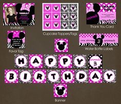 Minnie Mouse Party Package Printable DIY