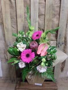 Pretty in pink bouquet created by florist ilene. We can sort all your flower needs!