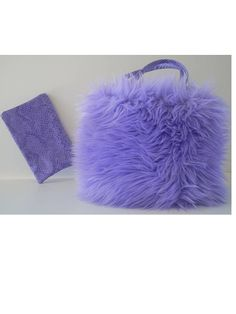 PURPLE MADNESS Purse lavender funky soft fake by CarolJoyFashions, $29.00