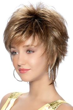 Presently, Shag haircut is recognized among the most popular. Short hairstyles seem cool and smashing. The shag hairstyle has ever been a favorite hairstyle, and there are lots of shag hairstyles to select from. Short Hair With Layers, Short Hair Cuts For Women, Layered Hair, Choppy Layers, Layered Bobs, Short Shag Hairstyles, Short Hairstyles For Women, Wig Hairstyles, Pixie Haircuts