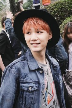 Yoongi smile =)) #Suga #MinYoongi #Yoongi #AgustD #BTS