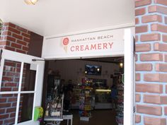 "Manhattan Beach Creamery. Seriously good ice cream sandwiches, called ""creamwiches!"""