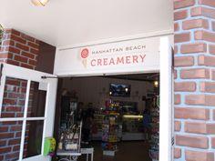 "Manhattan Beach Creamery. Seriously good ice cream sandwiches, called ""creamwiches!"""