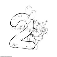 animal number coloring pages Barbie Coloring Pages, Colouring Pages, Coloring Books, Coloring Sheets, Valentine Coloring Pages, Alphabet Coloring Pages, Coloring Pages For Kids, Adult Coloring, Abc Cartoon