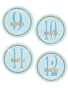 Baby Boy Monthly Onesie Stickers DIY Printable  by MyGraphicChic, $3.95