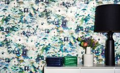 Kansai wallcovering in Peacock from Black Edition