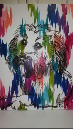 Maggie on chromatic strokes canvas by Lezley Lynch Designs, Edmond, OK