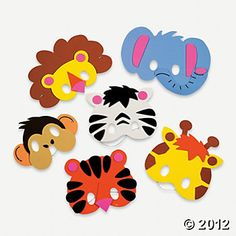 Foam Zoo Animal Mask Craft Kit, Hats & Masks, Crafts for Kids, Craft & Hobby Supplies - Oriental Trading