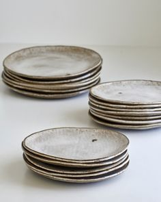 I love white plates. All my dishes are white - but these are handmade and gorgeous!!