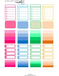FREE Plan with samia   Color Boxes for Erin Condren- Freebie Friday