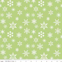 Holiday Banners - Green- Snowflakes - Riley Blake