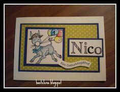 Geburtstagskarte für meinen Neffen Nico