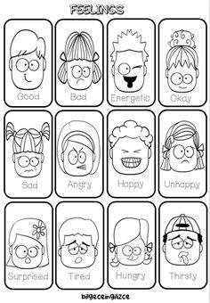 UNIT-4 (FEELINGS) - Bilgeceingilizce Emotions Preschool, Preschool Writing, Homeschool Kindergarten, Preschool Learning Activities, Kindergarten Worksheets, All About Me Preschool, Teaching Emotions, Preschool Classroom, English Activities For Kids