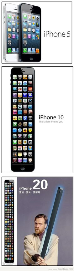 The only problem is the iOS...iPhones 10 and 20 would probably have more than iOS 6