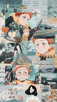 Nanatsu No Taizai // King ~ Wallpaper Wallpaper Pc Anime, Cool Anime Wallpapers, Hero Wallpaper, Kawaii Wallpaper, Animes Wallpapers, Wallpaper Wallpapers, Aztec Wallpaper, Pink Wallpaper, Screen Wallpaper