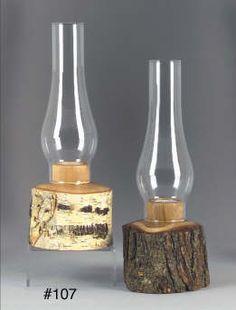 More Rustic Log Lamps