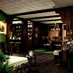 vintage basement design | And downstairs — we have our own personal family Irish Pub. This is ...