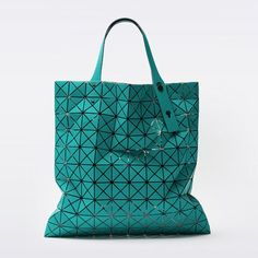 03da363220 Bao Bao Prism 1 Issey Miyake Tote Bag Matt Turquoise Blue Baobao from Japan  New