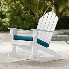 Adirondack Collection: Rocking Chair - Spend the summer days outside in a rocking chair.
