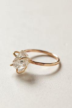 Herkimer Diamond Ring - #Anthropologie design by #AlanaDouvros