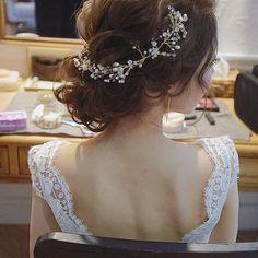 お姫様アップヘア