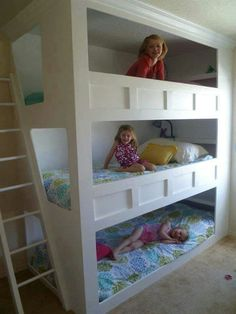 Girls Room Ideas With Bunk Cool Bunk Beds Bunk Bed Designs Stylish Bunk Room . Bedroom: Fantastic Cool Bunk Beds Design That You Will . Kids Bedroom Designs, Bunk Bed Designs, Bedroom Ideas, Bunk Beds With Stairs, Kids Bunk Beds, Triple Bunk Beds, Triple Bed, Modern Bunk Beds, Custom Bunk Beds