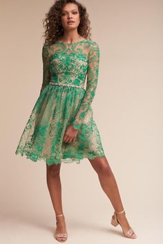 Green Holly Dress | BHLDN