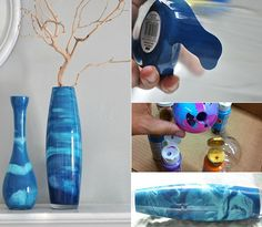 Coole Vasen Selbst Gestalten Mit Farbe Coole Bastelideen Fur Diy Vase Als Selbstgebastelte Geschenke Fur Frauen