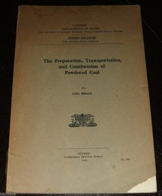 1921 Illustrated Pamphlet on Coal from Canada Department of Mines