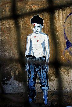 The Boy Who Lost His Laugh - Dead Boy by URBAN ARTefakte, via Flickr