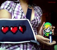 Broken, but not dead! Zelda Embroidered Sling