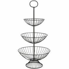 $47.00//Pier 1//Piper Tiered Basket - Black