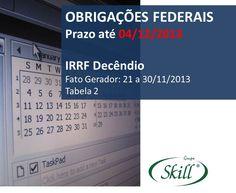 Obrigações fiscais que vencem em 04/12. Pague os impostos em dia e fique livre de autuações e multas.