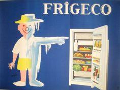 Frigeco original poster by Savignac Raymond