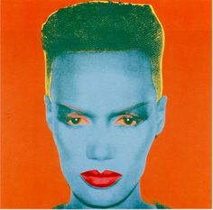Grace Jones by Andy Warhol 1986. /Community Fortunecity♀️♀️More Pins Like This At FOSTERGINGER @ Pinterest♀️♂️♀️