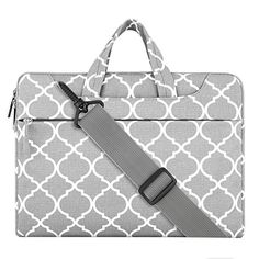 Laptop Shoulder Bag / Briefcase, Mosiso Quatrefoil Style Canvas Fabric Carry Case Bag for 15-15.6 Inch Notebook Computer / MacBook Air & Pro, Gray - http://www.computerlaptoprepairsyork.co.uk/laptop-computer/laptop-shoulder-bag-briefcase-mosiso-quatrefoil-style-canvas-fabric-carry-case-bag-for-15-15-6-inch-notebook-computer-macbook-air-pro-gray