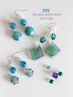 Simple Statement Earrings tutorials