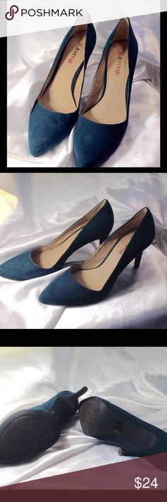 Emerald Heels-HOST PICK These emerald green suede heels have been used one  time. 3.5 inches high. Loved the color and style but too high for me. 2e40a016b7e1a