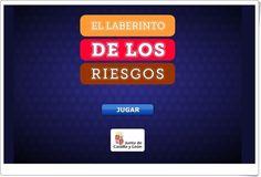 """""""El laberinto de los riesgos"""" es un juego, de la Junta de Castilla y León, tipo comecocos, en el que por cada ordenador que te comes aparece una pregunta tipo test en la que se prueba el conocimiento de la seguridad en la navegación por internet y en el uso de las redes sociales."""