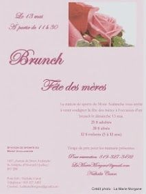 Affiche du Brunch de la Fête des mères - mai 2012. Mai, Place Cards, Brunch, Place Card Holders, Catering, Event Posters, Brunch Party