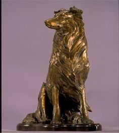#Bronze #sculpture by #sculptor Kathleen Friedenberg titled: 'Sheltie (Shetland…
