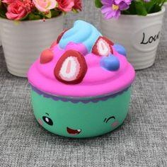 #Gearbest Ice Cream Cup Slow Rising Squishy Food Simulation Toy (652036) #SuperDeals