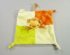Doudou plat singe velours vert et marron Kimbaloo garçons in Bébé, puériculture, Peluches, doudous | eBay