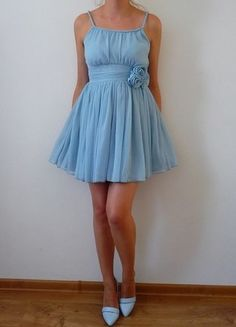 Kup mój przedmiot na #vintedpl http://www.vinted.pl/damska-odziez/krotkie-sukienki/10600862-hm-nowa-sukienka-blekitna-niebieska-babyblue-rozkloszowana-zwiewna-warkocze-elegancka-swiateczna