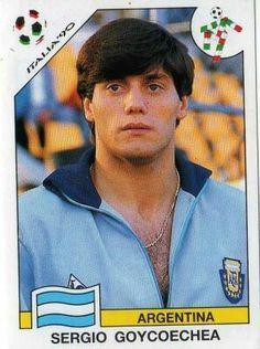 Sergio Goycoechea of Argentina. 1990 World Cup Finals card.